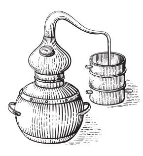 Copper pots - distillery